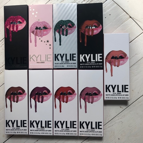 Kylie Cosmetics Other - bundle of 9 kylie lip kits